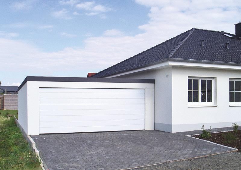 Blechgarage omicroner garagen for Haus mit doppelgarage bauen