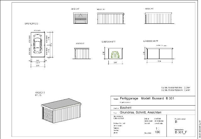 stahlgaragen liste 2 omicroner garagen. Black Bedroom Furniture Sets. Home Design Ideas