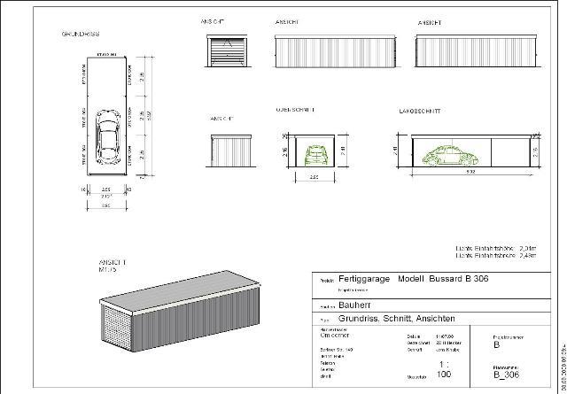Fertiggarage grundriss  Stahlgaragen-Liste-2 – Omicroner Garagen :